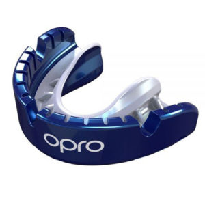 Opro Gold Braces Mouthguard – Blue/White
