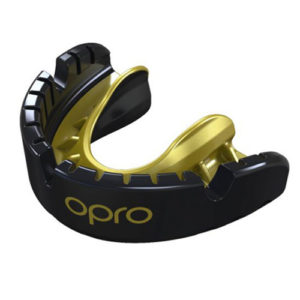Opro Gold Braces Mouthguard – Black/Gold