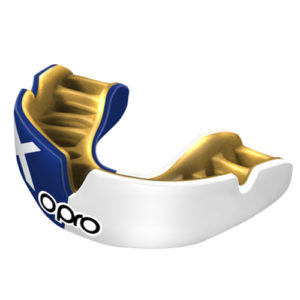 OPRO Power-Fit Mouthguard – Scotland [Blue/White]