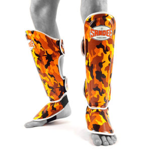 Sandee Junior Camo Synthetic Leather Boot Shinguard – Orange/White