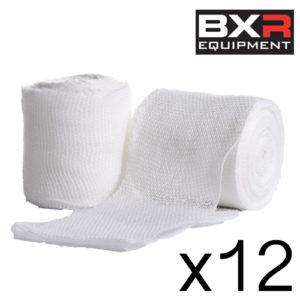 BXR Boxing Gauze Hand Wrap Bandage 5cm x 5m [Pack of 12]