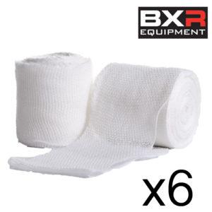 BXR Boxing Gauze Hand Wrap Bandage 5cm x 5m [Pack of 6]