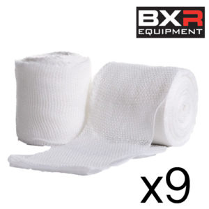 BXR Boxing Gauze Hand Wrap Bandage 5cm x 5m [Pack of 9]
