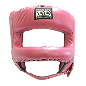 Cleto Reyes Headguard with Rounded Nylon Bar – Pearl Pink