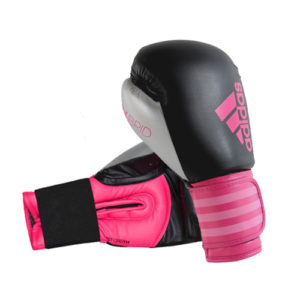 Adidas Hybrid 100 Women's Boxing Gloves – Black/Pink/Silver