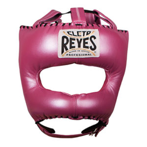 Cleto Reyes Headguard With Nylon Pointed Bar – Metallic Pink