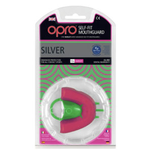 OPRO shield Junior Silver Mouthguard GEN3 – Pink/Green