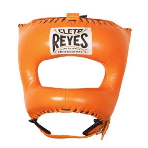Cleto Reyes Headguard With Nylon Pointed Bar – Orange