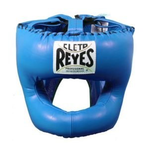 Cleto Reyes Headguard With Nylon Pointed Bar – Blue