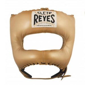 Cleto Reyes Headguard with Nylon Pointed Bar – Gold