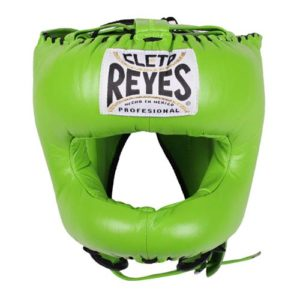 Cleto Reyes Headguard With Nylon Pointed Bar – Lime Green