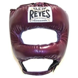 Cleto Reyes Headguard With Nylon Pointed Bar – Metallic Purple