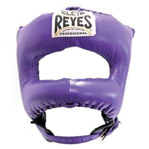 Cleto Reyes Headguard With Nylon Pointed Bar – Purple