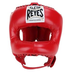 Cleto Reyes Headguard with Nylon Pointed Bar – Red