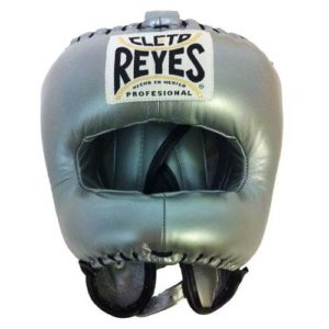 Cleto Reyes Headguard With Nylon Pointed Bar – Platinum