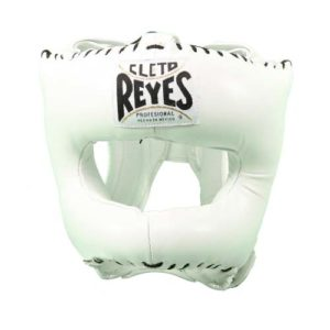 Cleto Reyes Headguard With Nylon Pointed Bar – White
