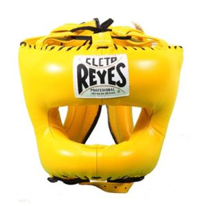 Cleto Reyes Headguard With Nylon Pointed Bar – Yellow