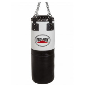 Pro-Box 'Black Collection' Leather Punchbag 3ft – Black/White