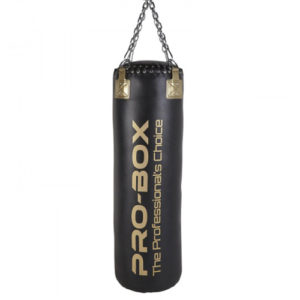 Pro-Box 'Champ' 4ft Straight Punch Bag – Black/Gold