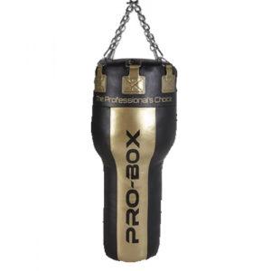 Pro-Box 'Champ' 4ft Angle Punch Bag – Black/Gold