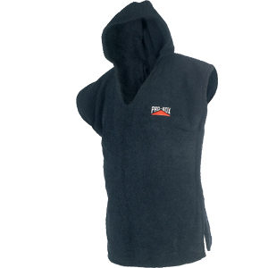 Pro-Box Junior Hooded Toweling Poncho – Black