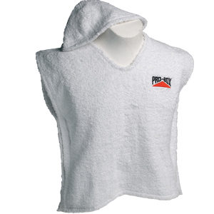 Pro-Box Senior Hooded Toweling Poncho – White