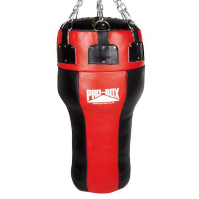Pro-Box Red Leather Uppercut Angle Bag – Red/Black