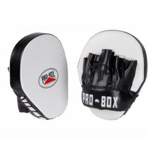 Pro-Box Club Essentials PU Speed Hook & Jab Pads – Black/White
