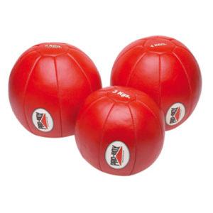 Pro-Box Leather Medicine Ball – Red [3kg, 4kg or 5kg]