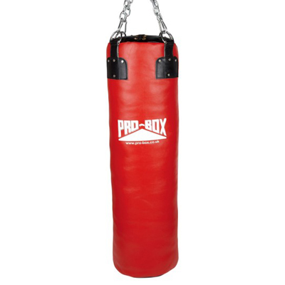 Pro-Box Club Leather Super Heavy Punchbag Extra Large – Red