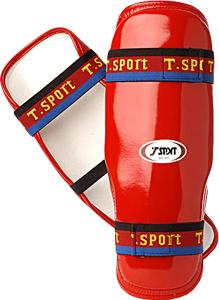 T-Sport Professional PU Shin Guards – Red