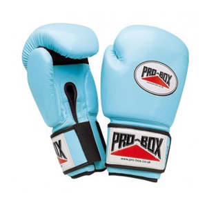 Pro-Box Ladies PU Training Gloves – Baby Blue