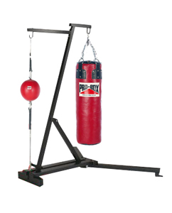Pro Box Free Standing Punch Bag Frame with Floor 2 Ceiling & Punchbag
