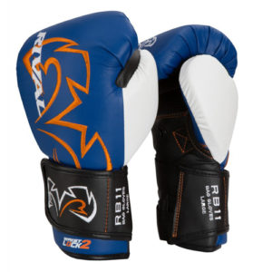 Rival RB11 Evolution Sparring Double Strap Bag Glove – Blue