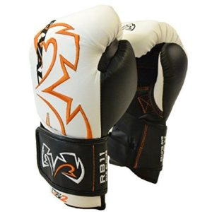Rival RB11 Evolution Sparring Double Strap Bag Glove – White