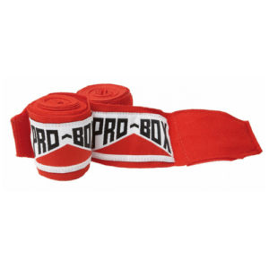 Pro-Box Junior AIBA Spec Hand Wraps – Red
