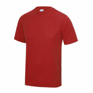 UNBRANDED Junior/Kids Lightweight Cool T-Shirt – Red