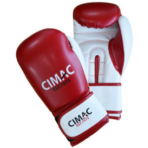 Cimac Artificial Leather Boxing Gloves – Red/White