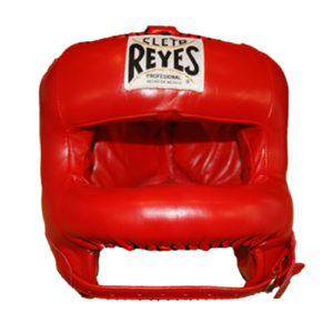 Cleto Reyes Headguard with Rounded Nylon Bar – Red