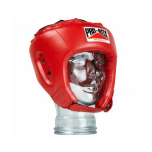 Pro-Box 'Base Spar' Junior PU Headguard – Red