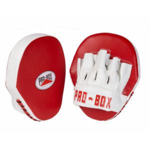 Pro-Box Club Essentials PU Hook & Jab Pads – Red/White