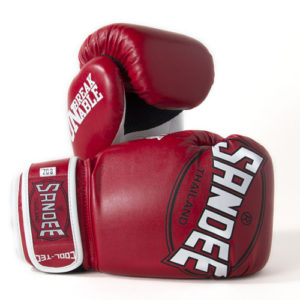 Sandee Junior Cool-Tec Synthetic Leather Boxing Glove – Red/White/Black
