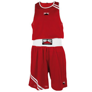 Pro-Box Club Boxing Vest and Short Set – Red