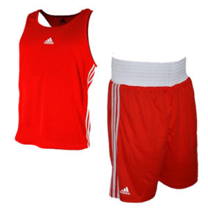 adidas Base Punch II Boxing Vest and Short Set – Red