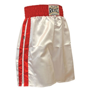 Cleto Reyes Boxing Shorts – White/Red