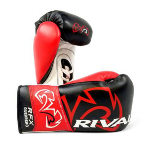 Rival RFX Guerrero Pro Fight Lace Up Glove – Black/Red