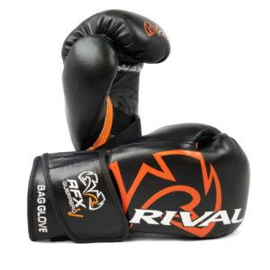 Rival RFX Guerrero Pro Fight Glove with Strap – Black/Orange