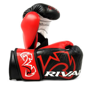 Rival RFX Guerrero Pro Fight Glove with Strap – Black/Red