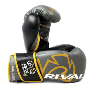 Rival RFX Guerrero Pro Fight Glove with Strap – Grey/Gold