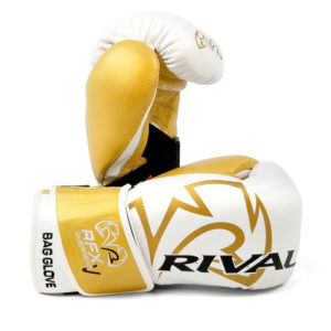 Rival RFX Guerrero Pro Fight Glove with Strap – White/Gold
